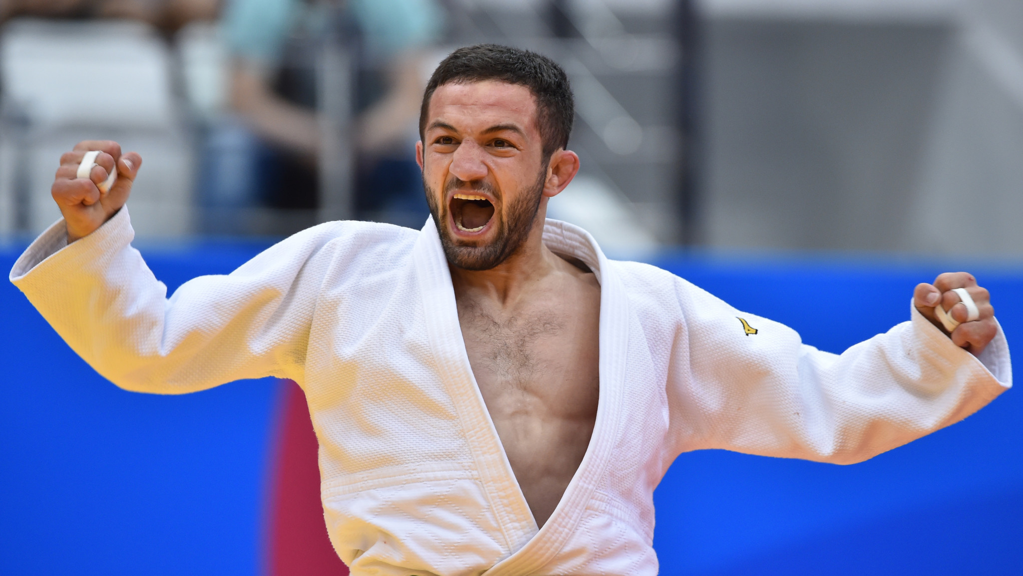 The first men's gold medal of the Championships went to Georgia's Lukhumi Chkhvimiani in the under-60kg ©Getty Images