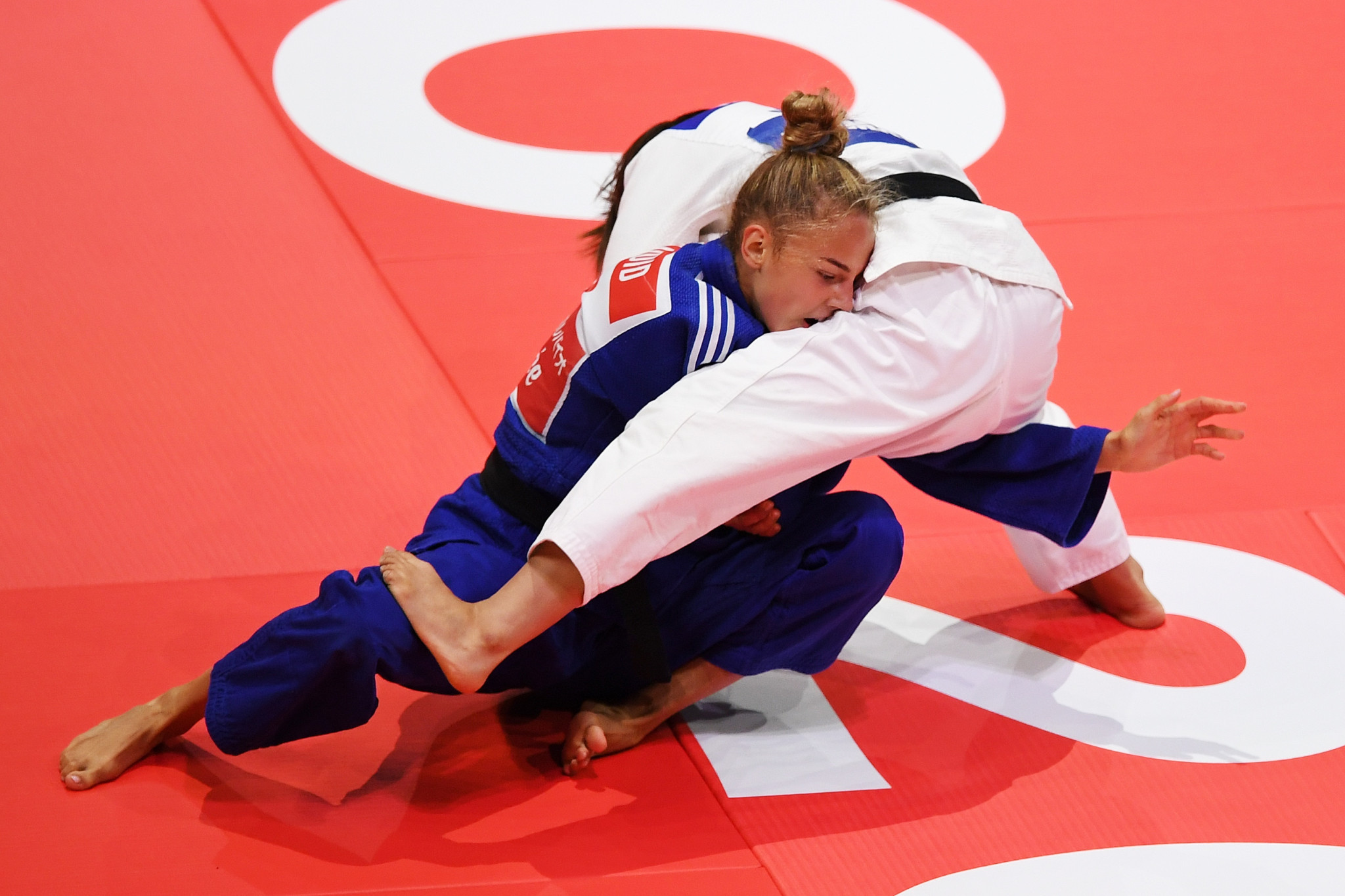 Daria Bilodid claimed the first gold medal of the 2019 IJF World Championships ©Getty Images