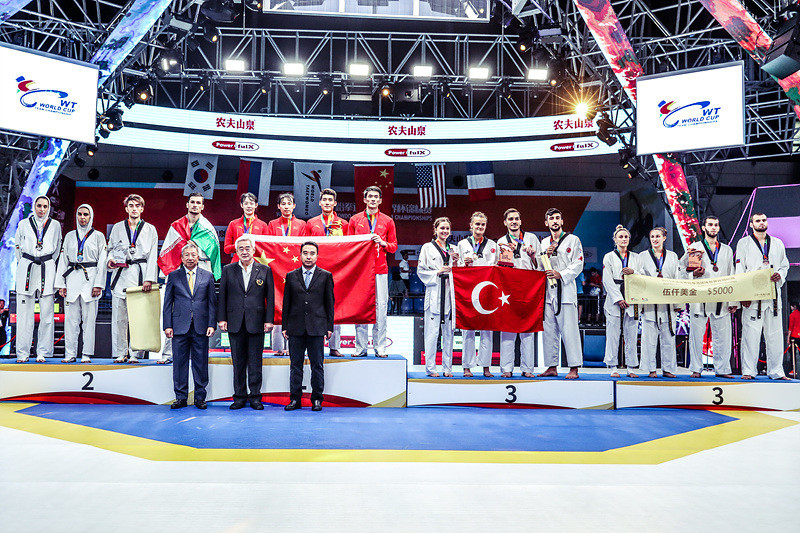 China topped the medal rostrum as Iran took silver and Russia and Turkey claimed bronze medals in Wuxi ©World Taekwondo