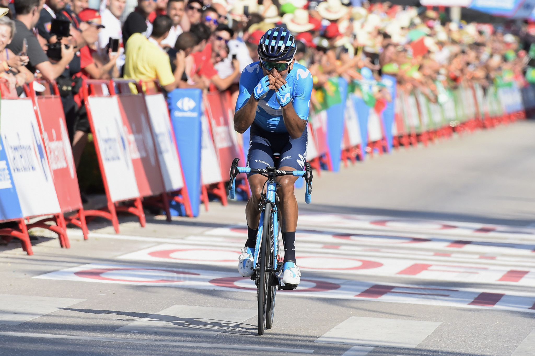 Nairo Quintana claimed victory on the second stage of the Vuelta a España ©Getty Images