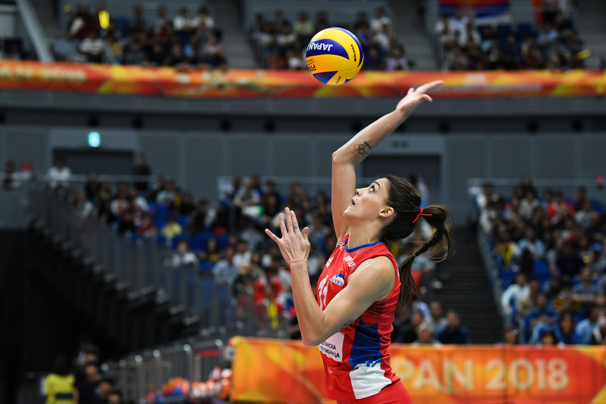 Serbia continue Women's European Volleyball Championship title defence with victory over Bulgaria