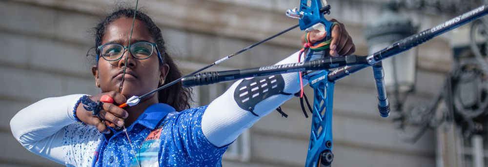 India's Komalika Bari triumphed in the women's cadet recurve final ©World Archery