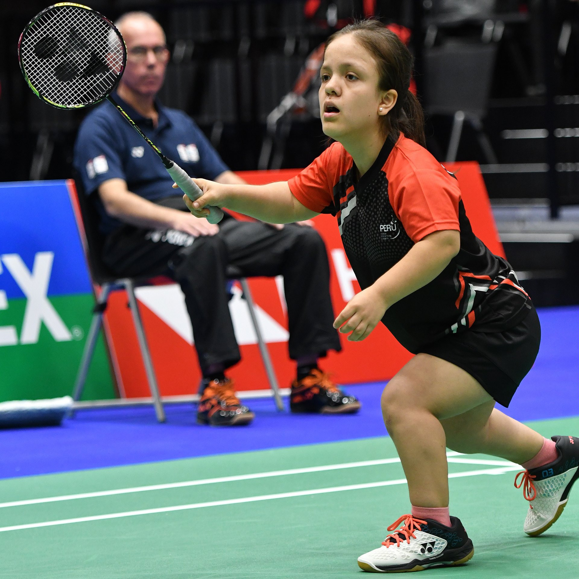 Top seed Giuliana Poveda secured a maiden world title for Peru as she won the women's singles SS6 final ©BWF