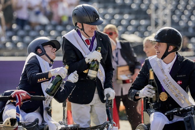 Dutch riders Hosmar and Voets claim gold at FEI Para-Dressage European Championships