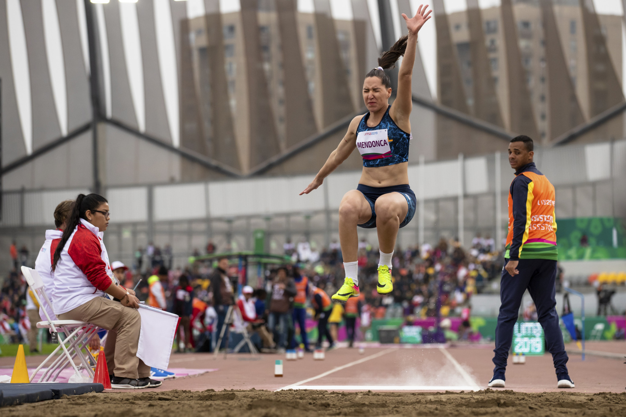 Brazil's Gabriela Mendonca broke a Parapan American Games record to win the women's long jump T11/12 ©Getty Images