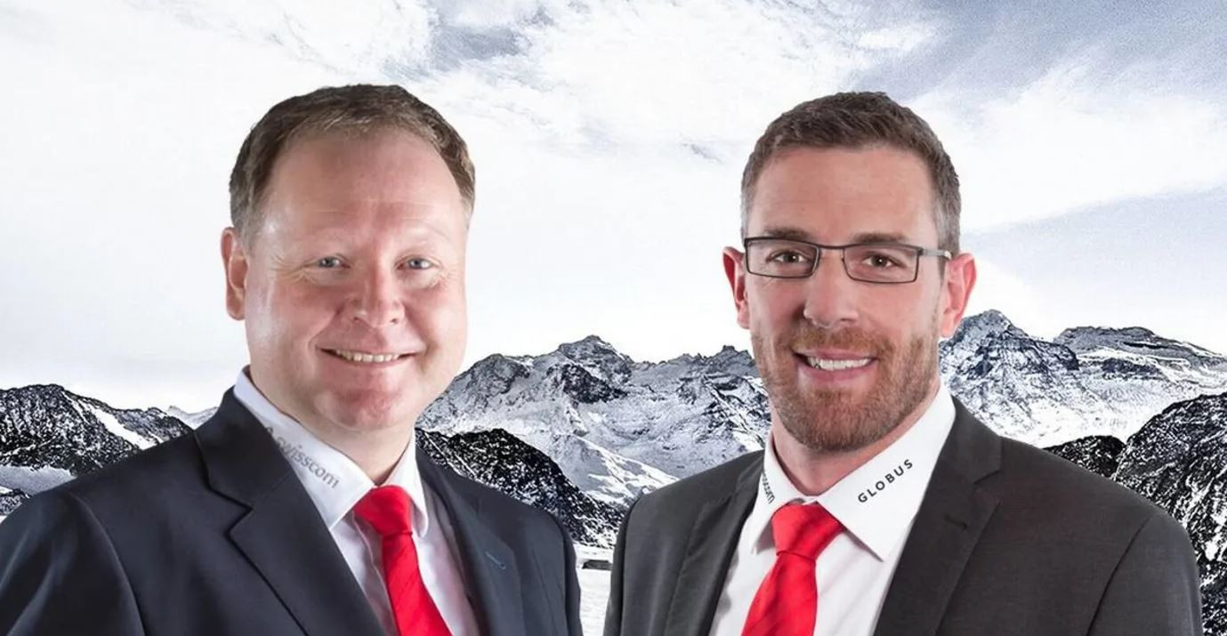 Bernhard Aregger, left, will replace Markus Wolf as director of Swiss-Ski in November ©Swiss-Ski