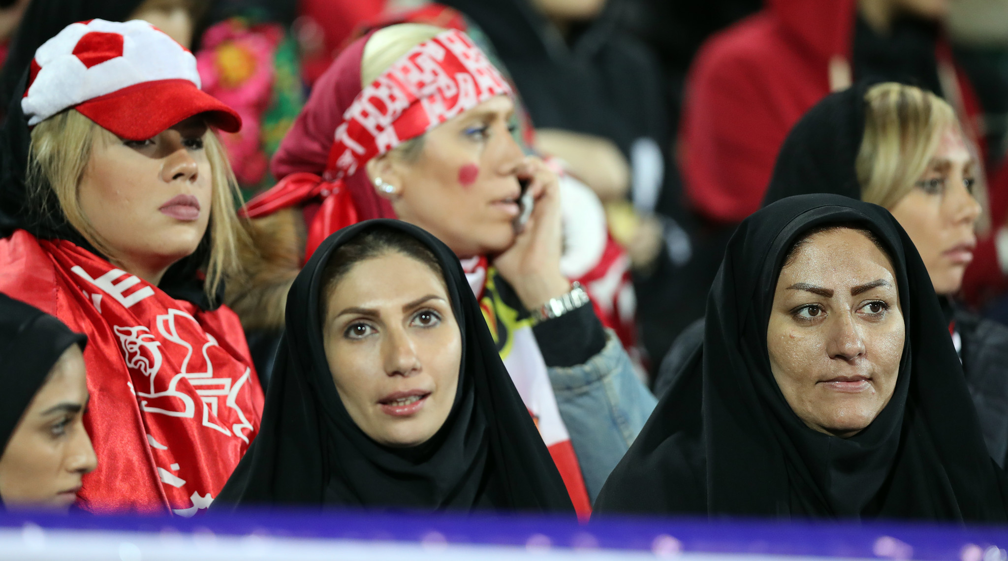 Female fans were allowed to watch the AFC Champions League final match in Tehran between Persepolis and Japan's Kashima Antlers in November 2018 ©Getty Images