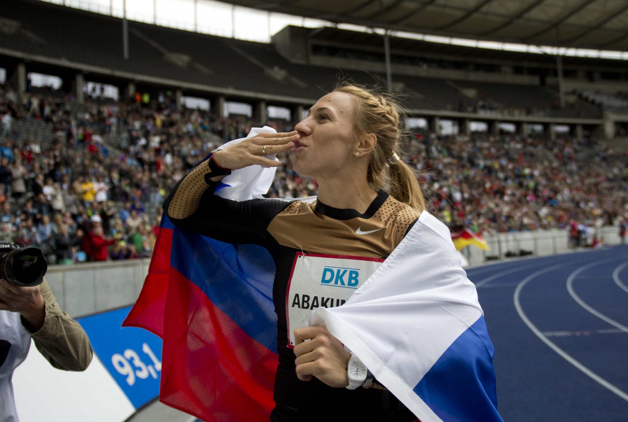 Mariya Abakumova of Russia was stripped of her 2008 Olympic Games javelin silver medal in 2018 ©Getty Images