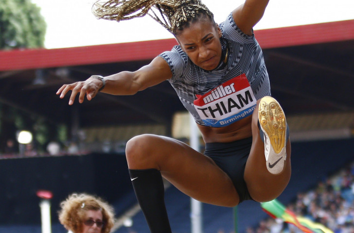 The brilliance of athletes such as world heptathlon champion Nafissatou Thiam, pictured winning the long jump at this month's IAAF Diamond League meeting in Birmingham, demands a regular, and equal, showcase, world decathlon champion Kevin Mayer maintains ©Getty Images