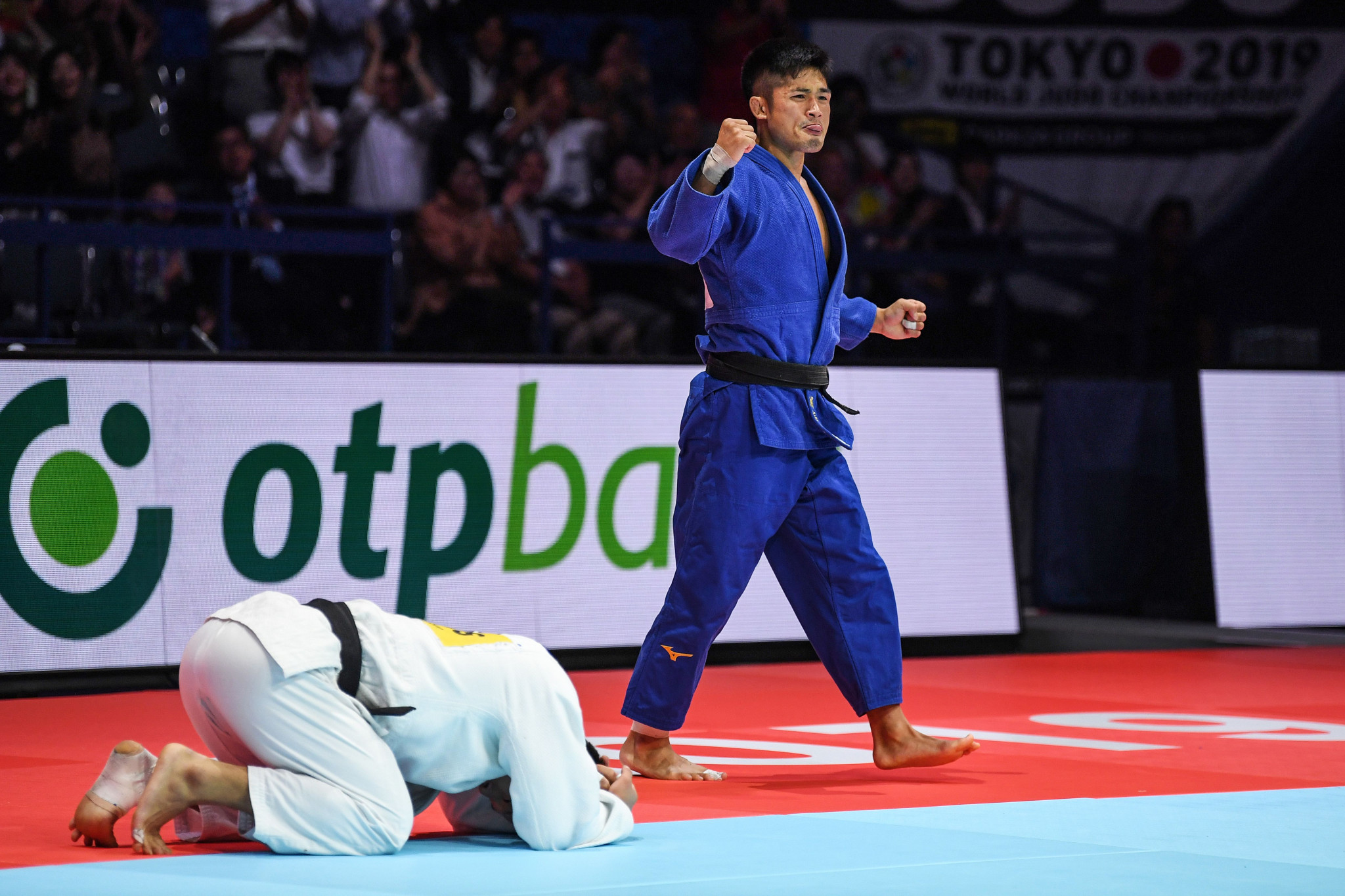 Joshiro Maruyama took the men's under-66kg crown, defeating surprise finalist Kim Lim-hwan of South Korea ©Getty Images
