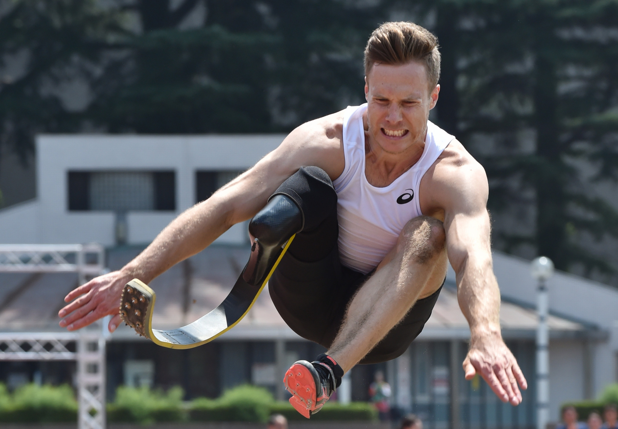 Markus Rehm went further than the T64 long jump world record in an exhibition ©Getty Images