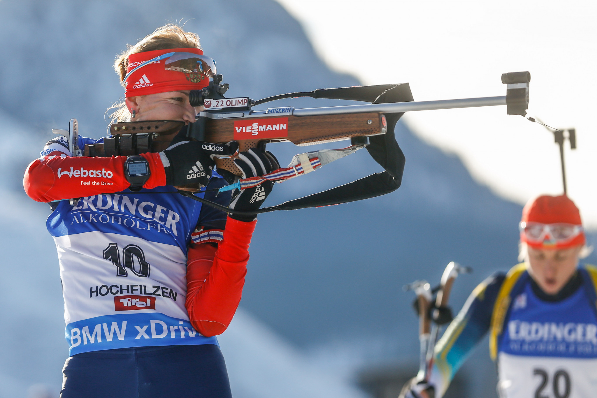 The 2014-2015 overall pursuit title was stripped from Russian Ekaterina Glazyrina, left ©Getty Images