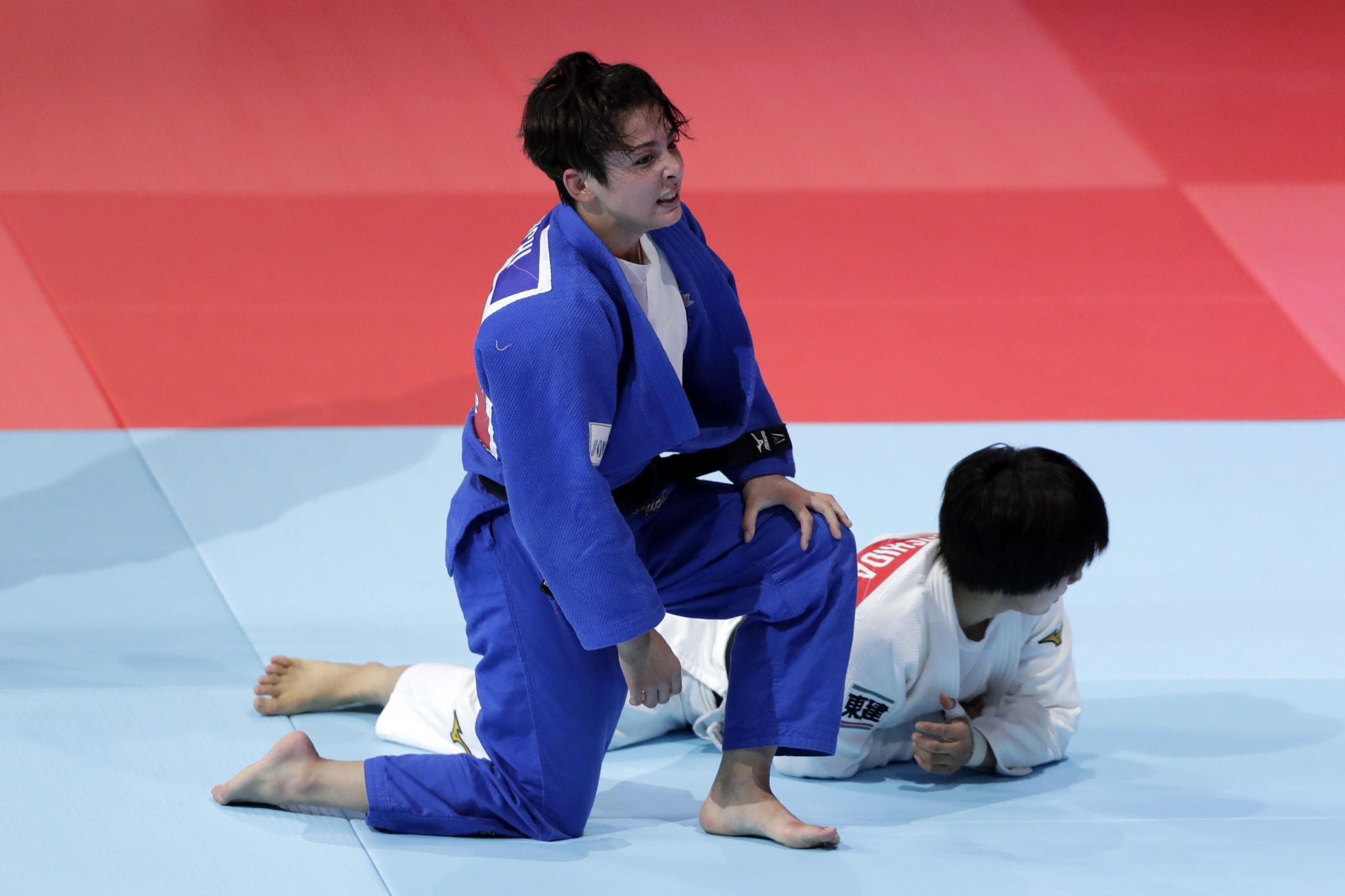 In the women's under-57kg category, Christa Deguchi defeated and reigning champion Tsukasa Yoshida ©Getty Images