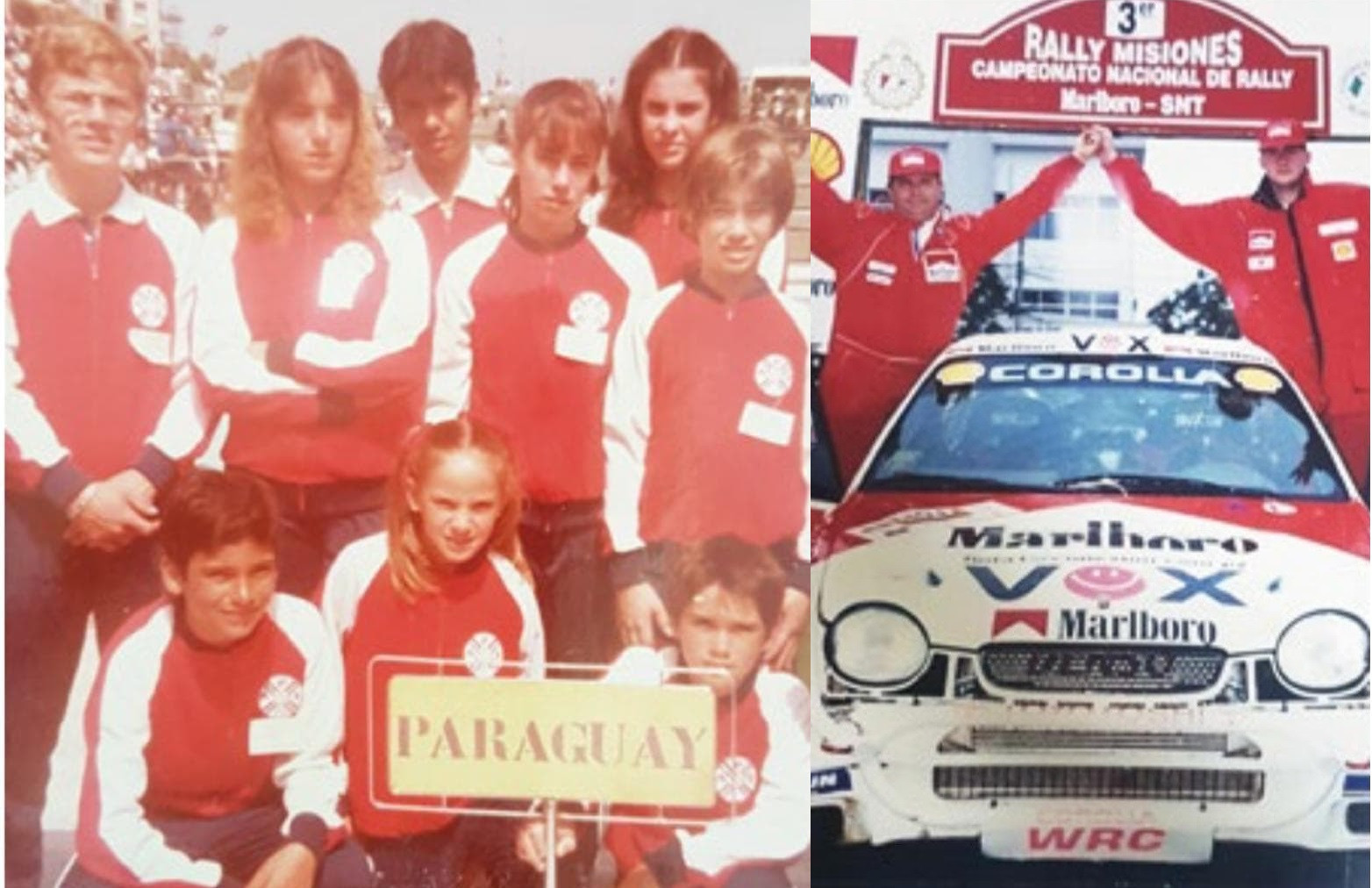 Camilo Pérez López Moreira represented Paraguay in junior tennis events while he later enjoyed success as a rally co-pilot ©Camilo Pérez López Moreira