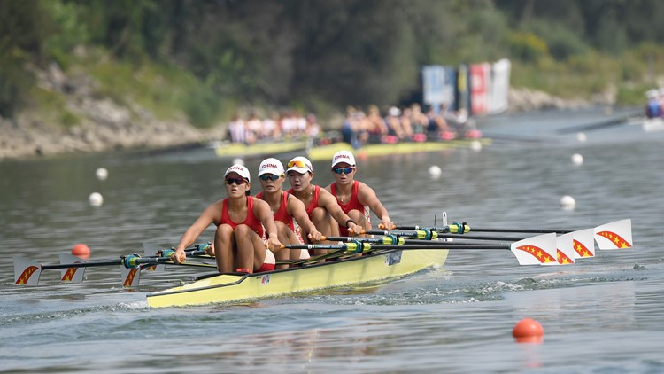 The Netherlands and China book Olympic quadruple sculls places at World Rowing Championships