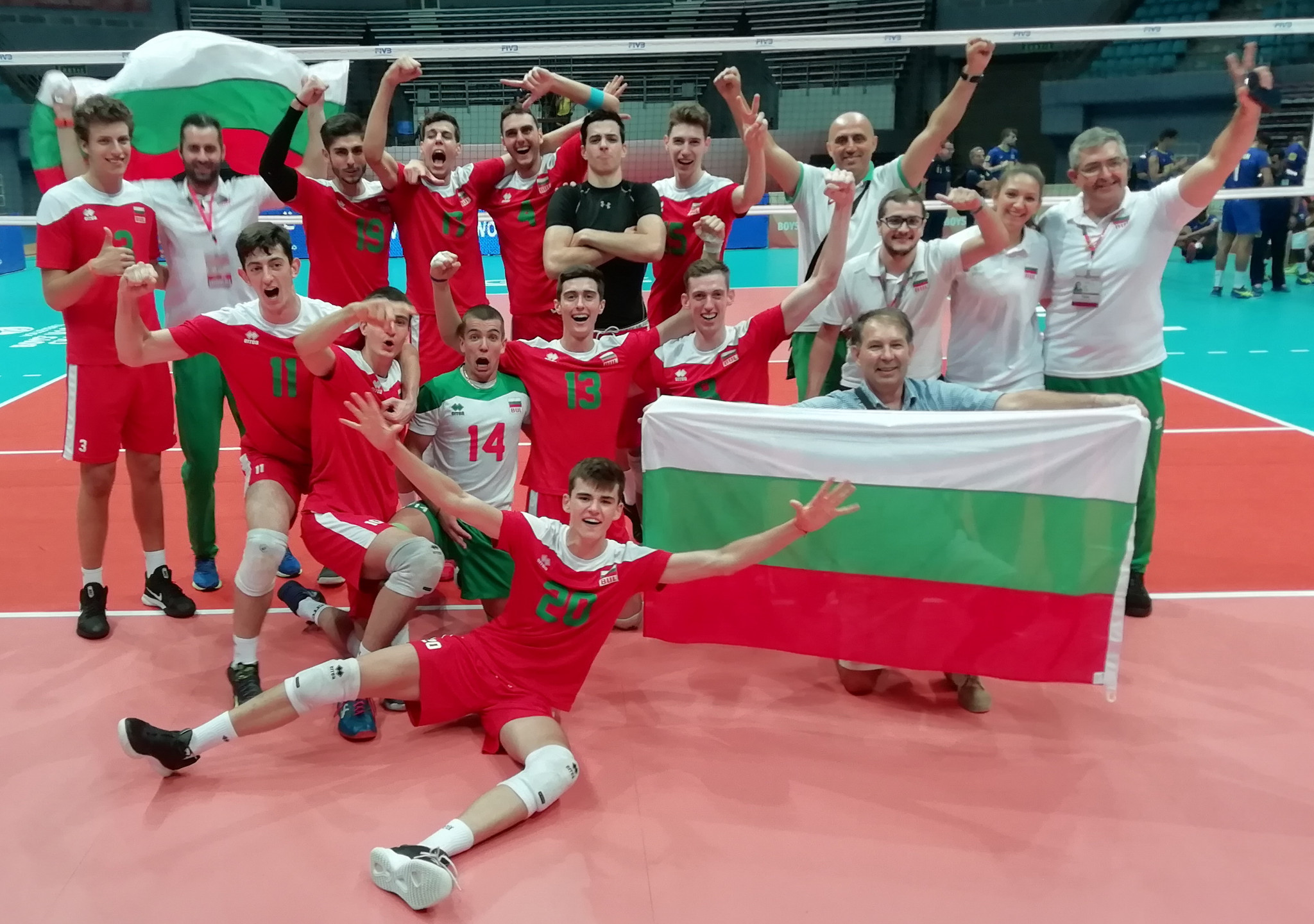 Bulgaria pulled off an upset by beating Brazil ©FIVB