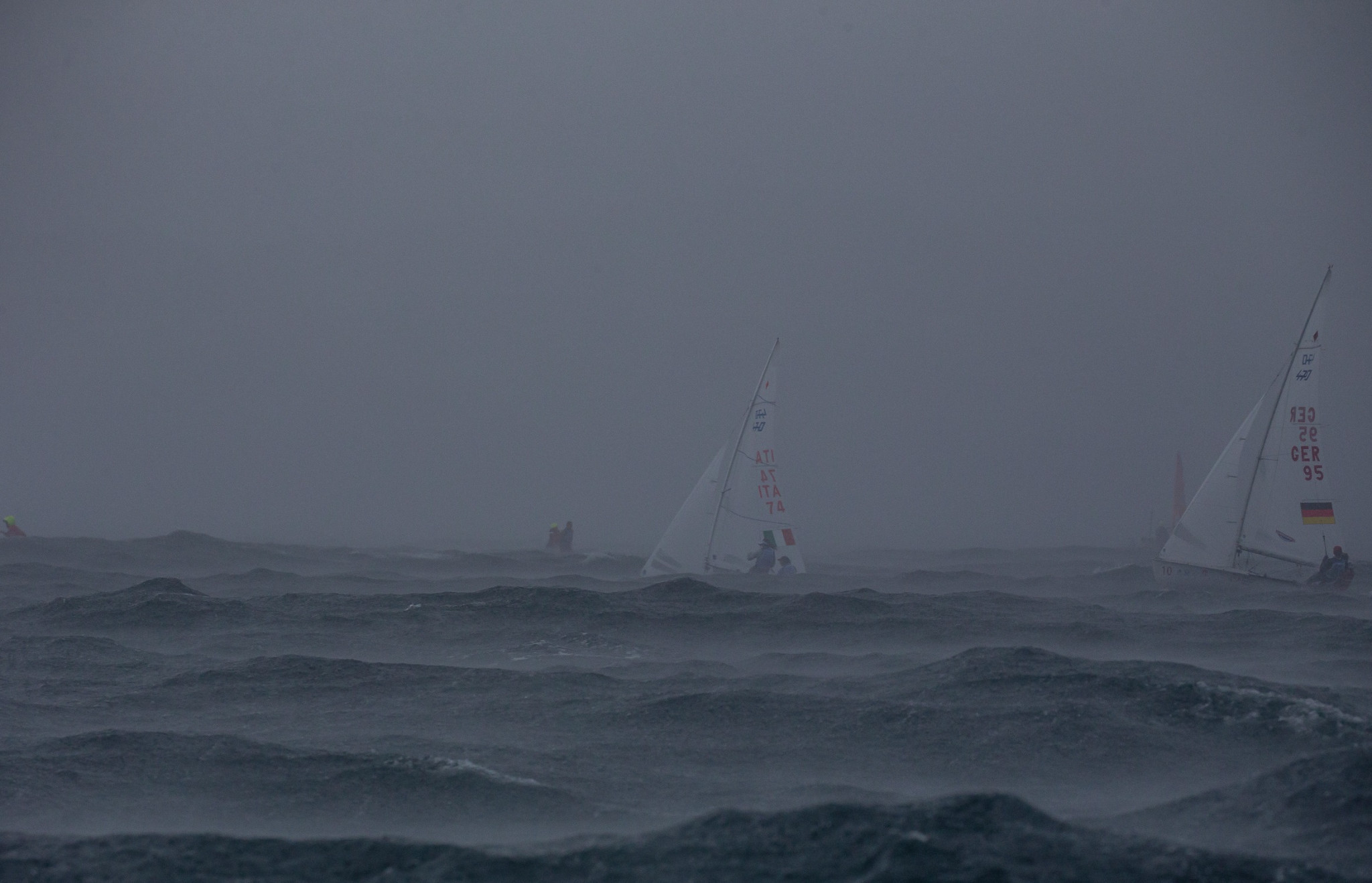 The tough conditions were in contrast to yesterday's light breezes ©World Sailing