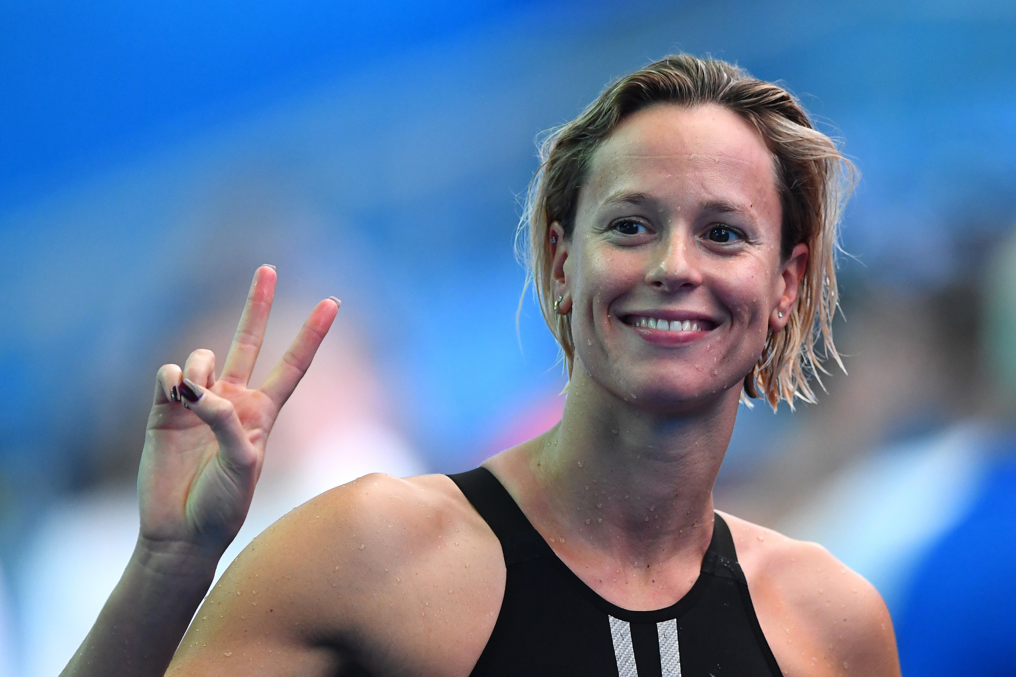 Federica Pellegrini was the first Italian Olympic swimming champion ©Getty Images