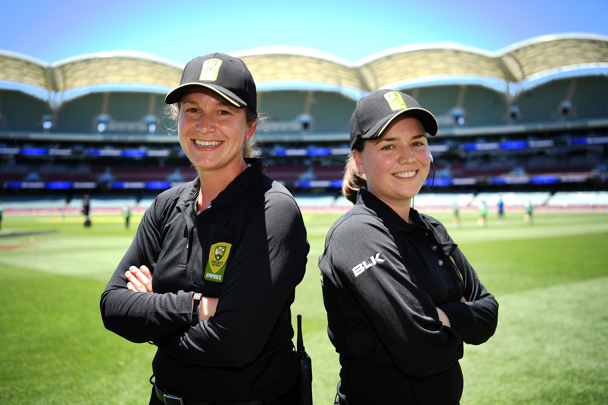 Australia's Claire Polosak and Eloise Sheridan are helping raise the profile of women in cricket ©Getty Images