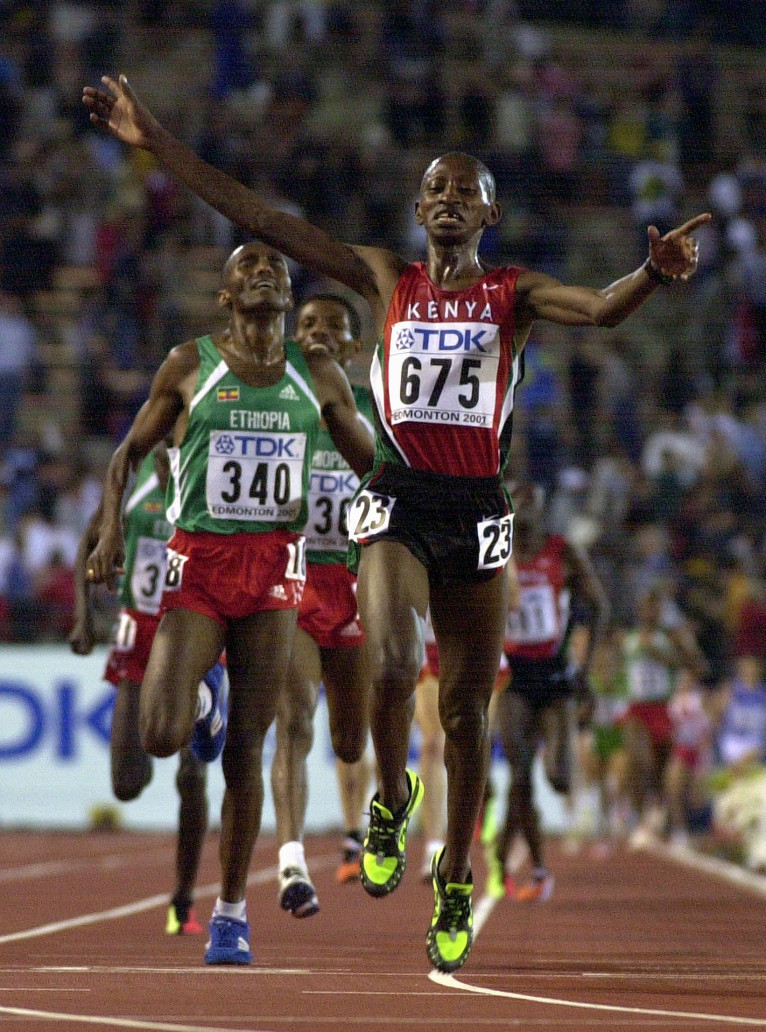 Charles Kamathi secured Kenya their last World Championships 10,000m gold medal, in 2001 ©Getty Images
