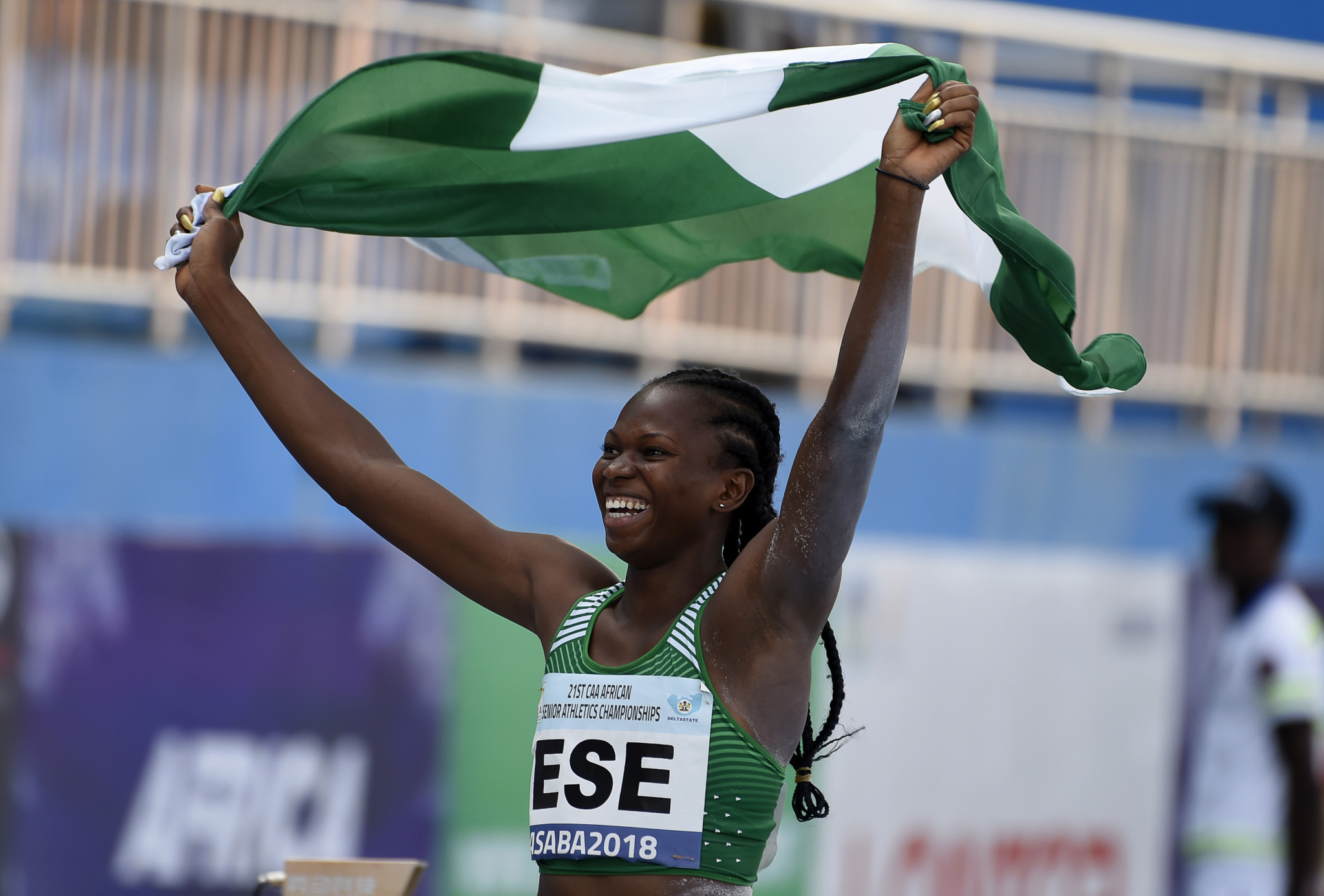Ese Brume added to Nigeria's gold medal tally in athletics ©Getty Images