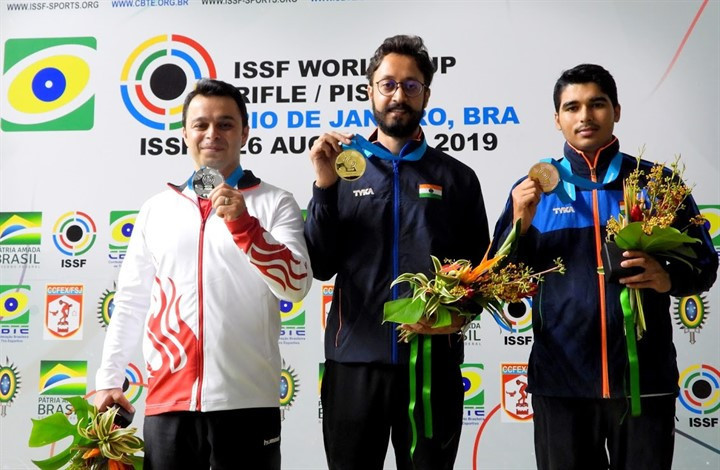 Abhishek Verma of India won his second World Cup gold medal of the season ©ISSF