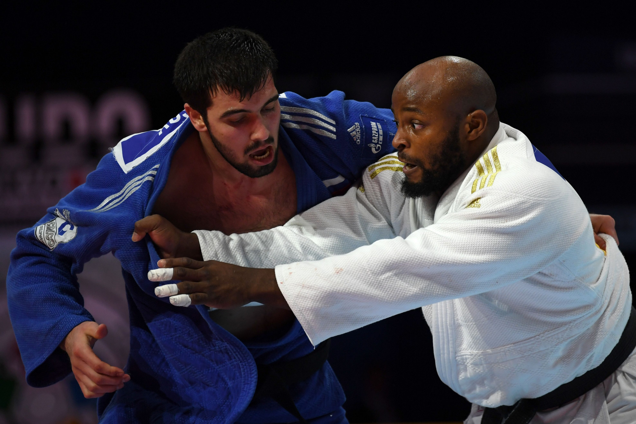 Jorge Fonseca, in white, won the under-100 kilogram category with some thrilling judo ©Getty Images