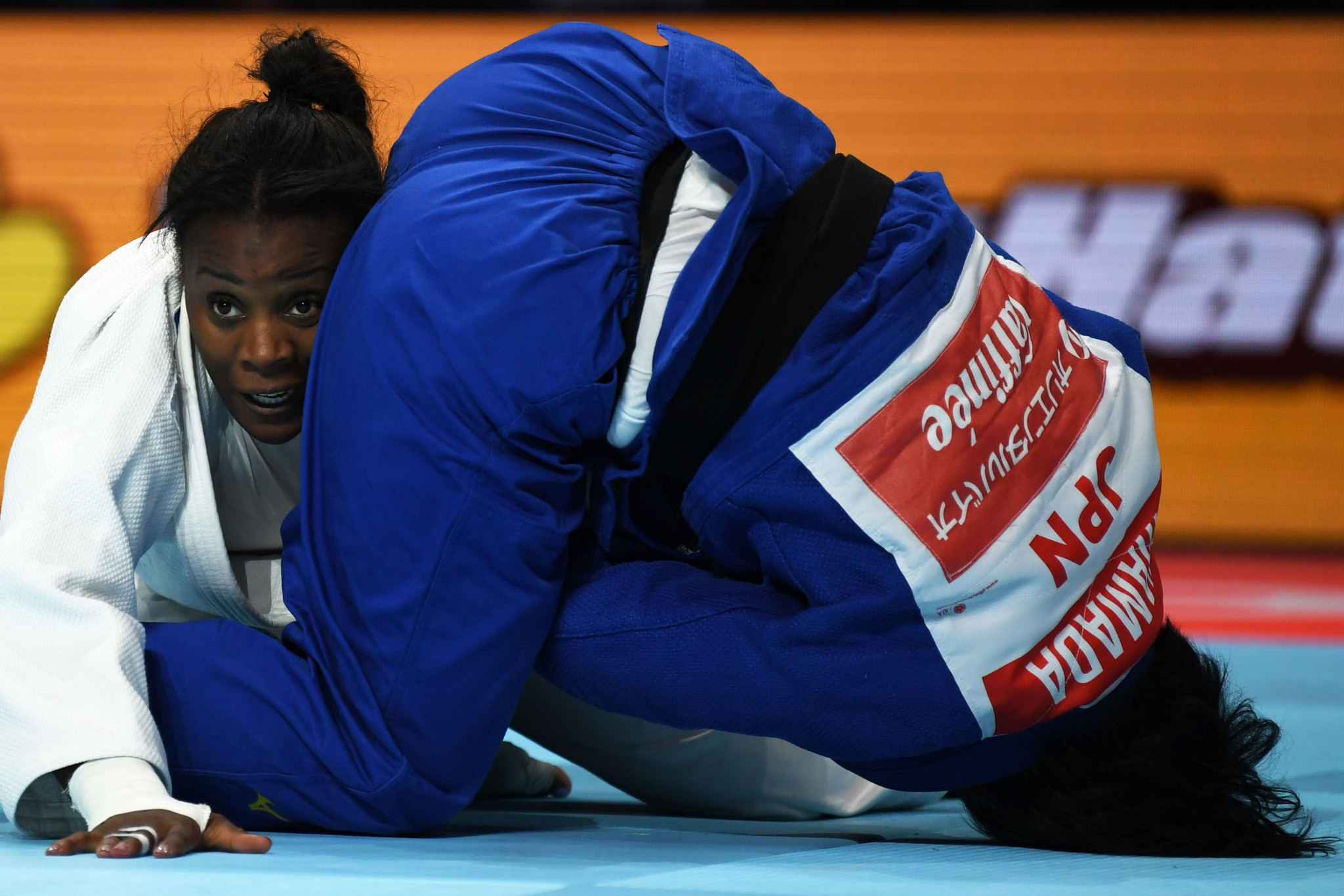 Malonga had to beat the world number one, then the reigning champion, to claim the under-78kg crown ©Getty Images