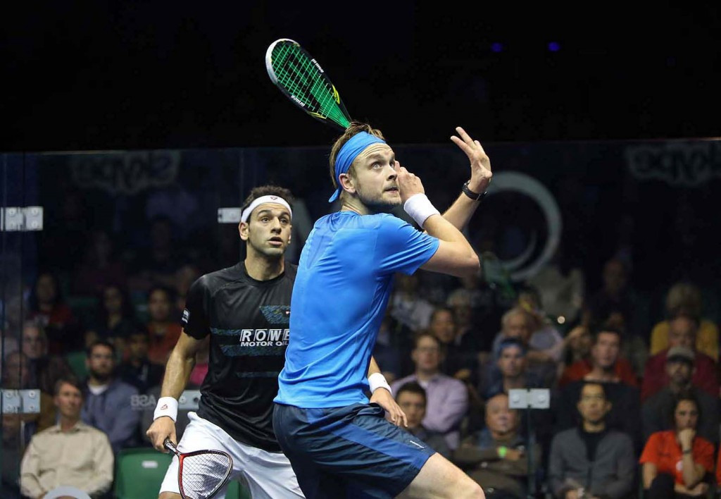 James Willstrop produced one of the biggest shocks in the history of the PSA Men's World Championships by beating Mohamed Elshorbagy ©squashpics