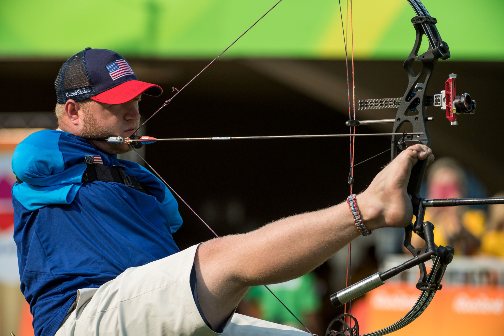 Archer Matt Stutzman from the United States won silver at the London 2012 Paralympic Games ©Getty Images