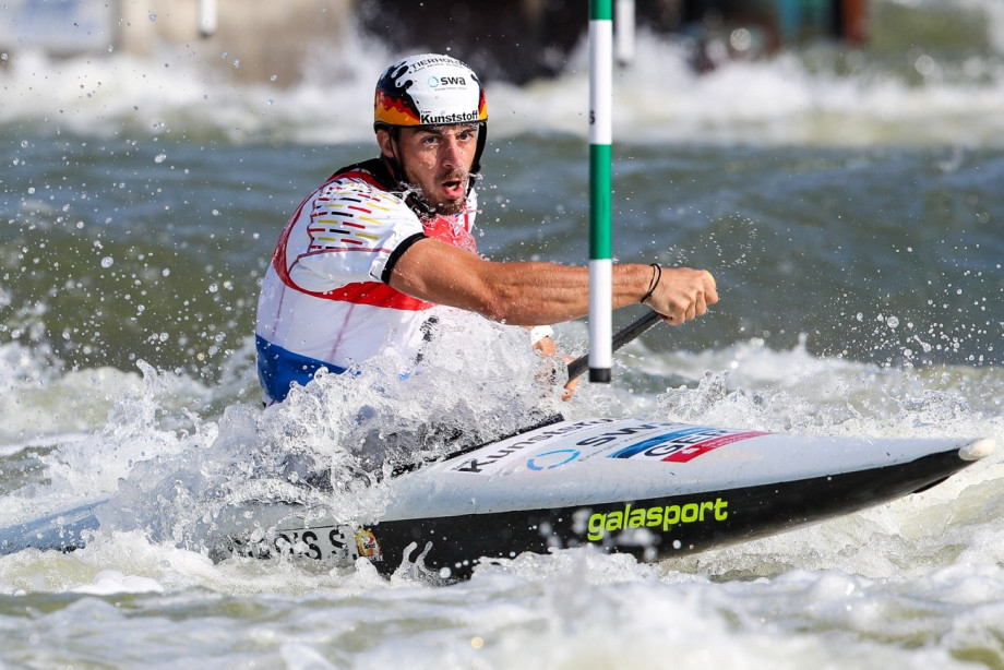 Germany's Sideris Tasiadis topped the men's C1 heat standings ©ICF