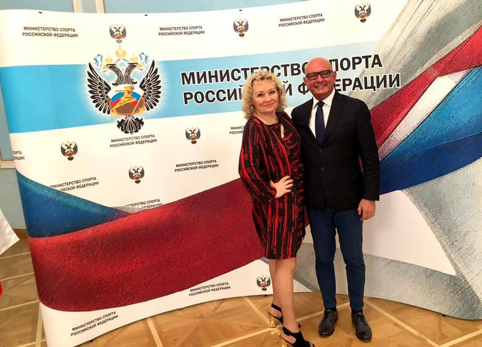 Bobsleigh Federation of Russia head Elena Anikina, left, was also present at the meeting ©Facebook