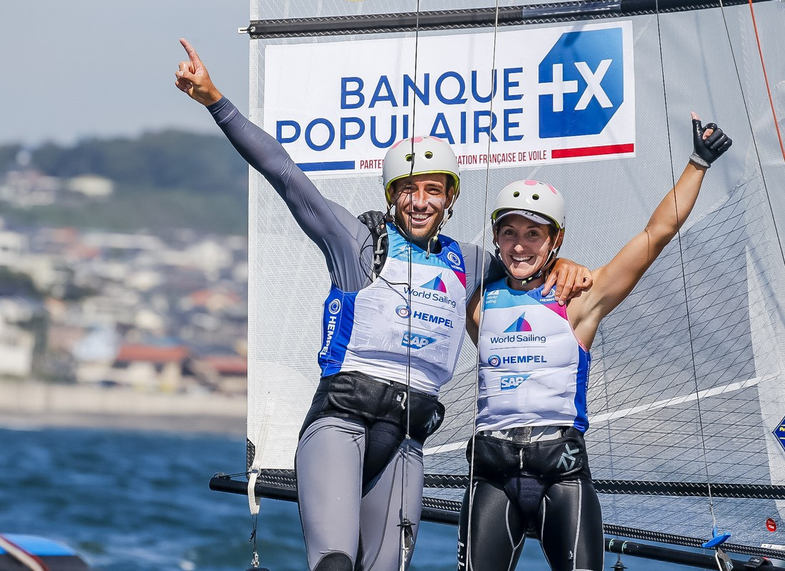Delapierre and Audinet earn surprise Nacra 17 gold at Sailing World Cup