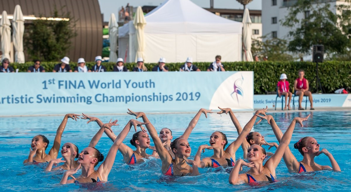 Action continued at the FINA World Youth Artistic Swimming Championships ©FINA/Twitter