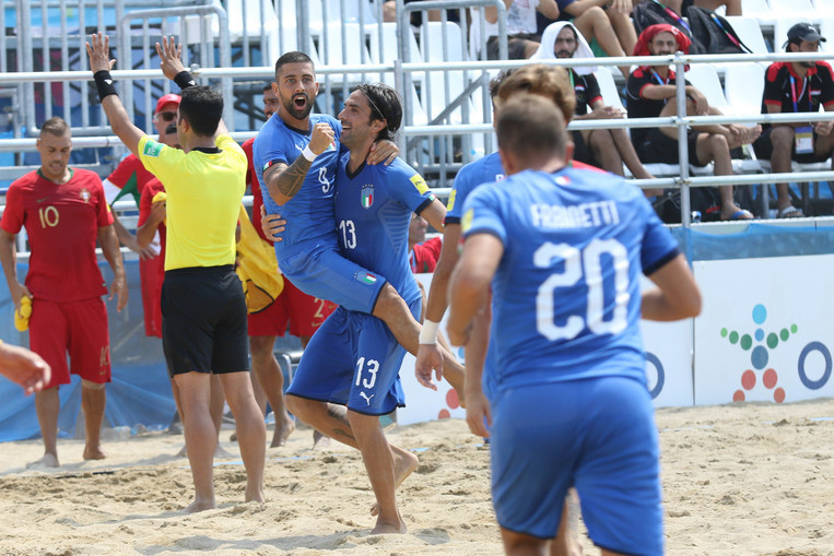 Italy beat Portugal in beach soccer final on last day of Mediterranean Beach Games
