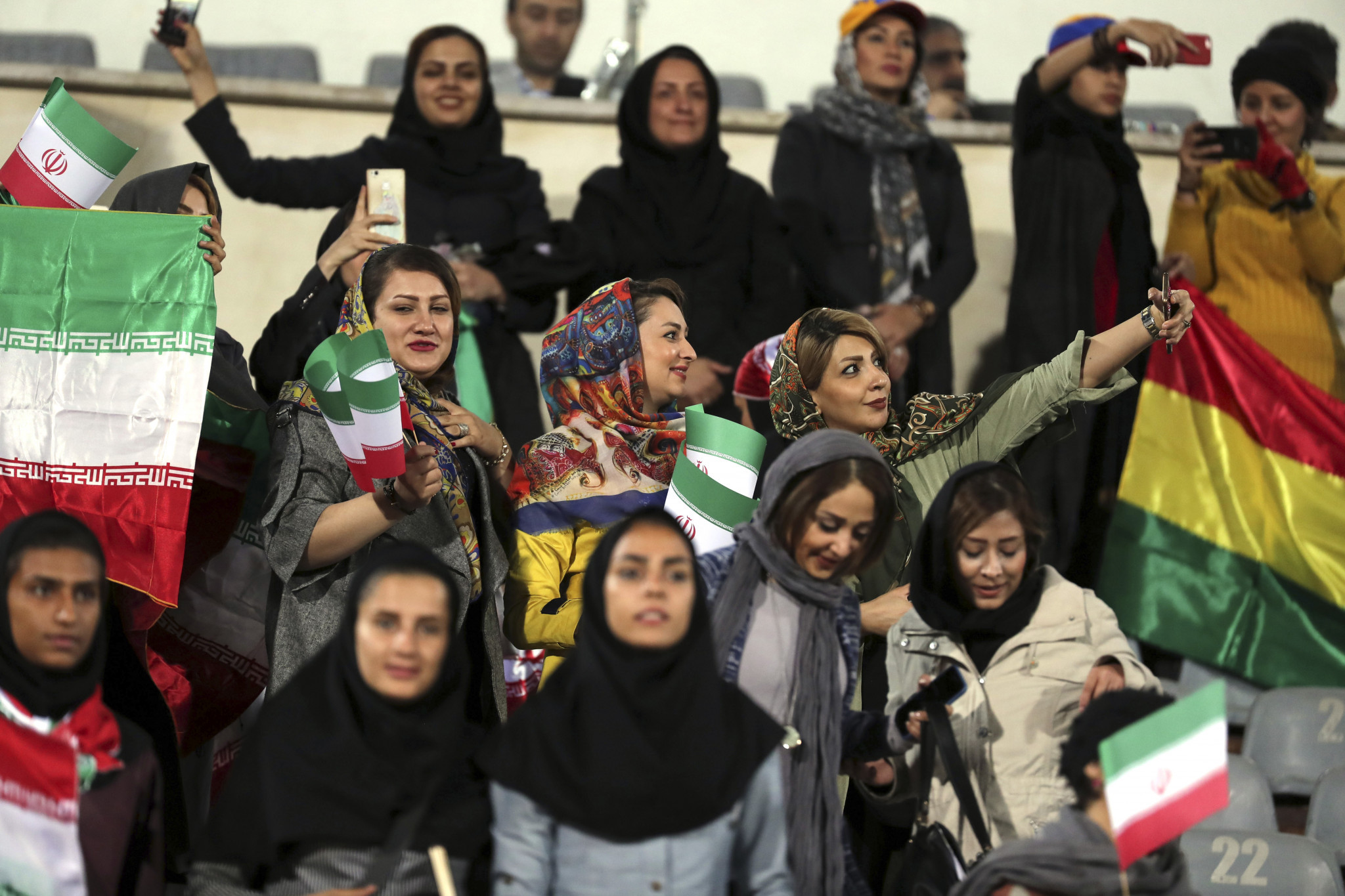 Women were allowed to watch Iran's friendly with Bolivia last October ©Getty Images