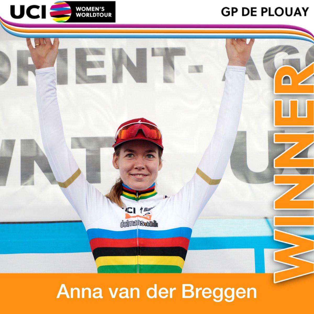 Van der Breggen triumphs at GP de Plouay