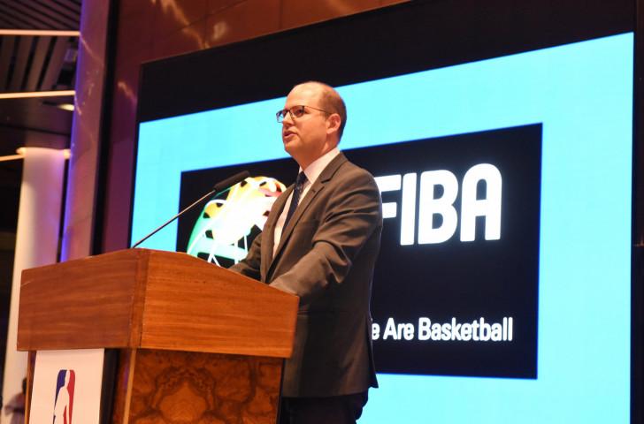 Andreas Zagklis, secretary general of the International Basketball Federation, has updated the FIBA Congress in China ©FIBA
