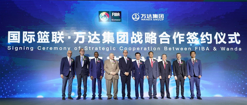 The new deal signed in Beijing between FIBA and the Wanda Group extends their strategic partnership for the next three World Cup cycles ©FIBA