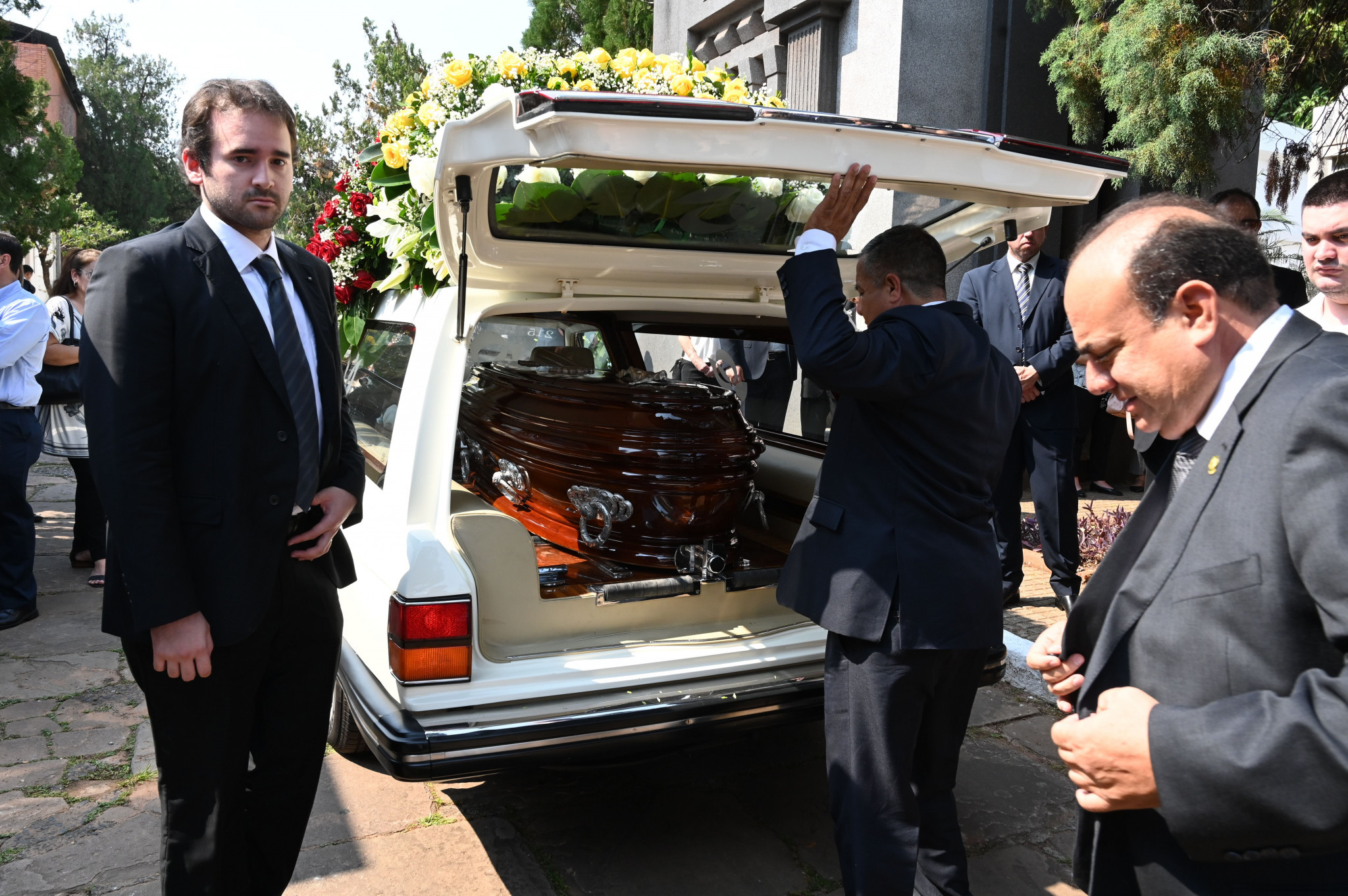 Nicolás Leoz's funeral took place in Paraguay's capital Asunción yesterday ©Getty Images