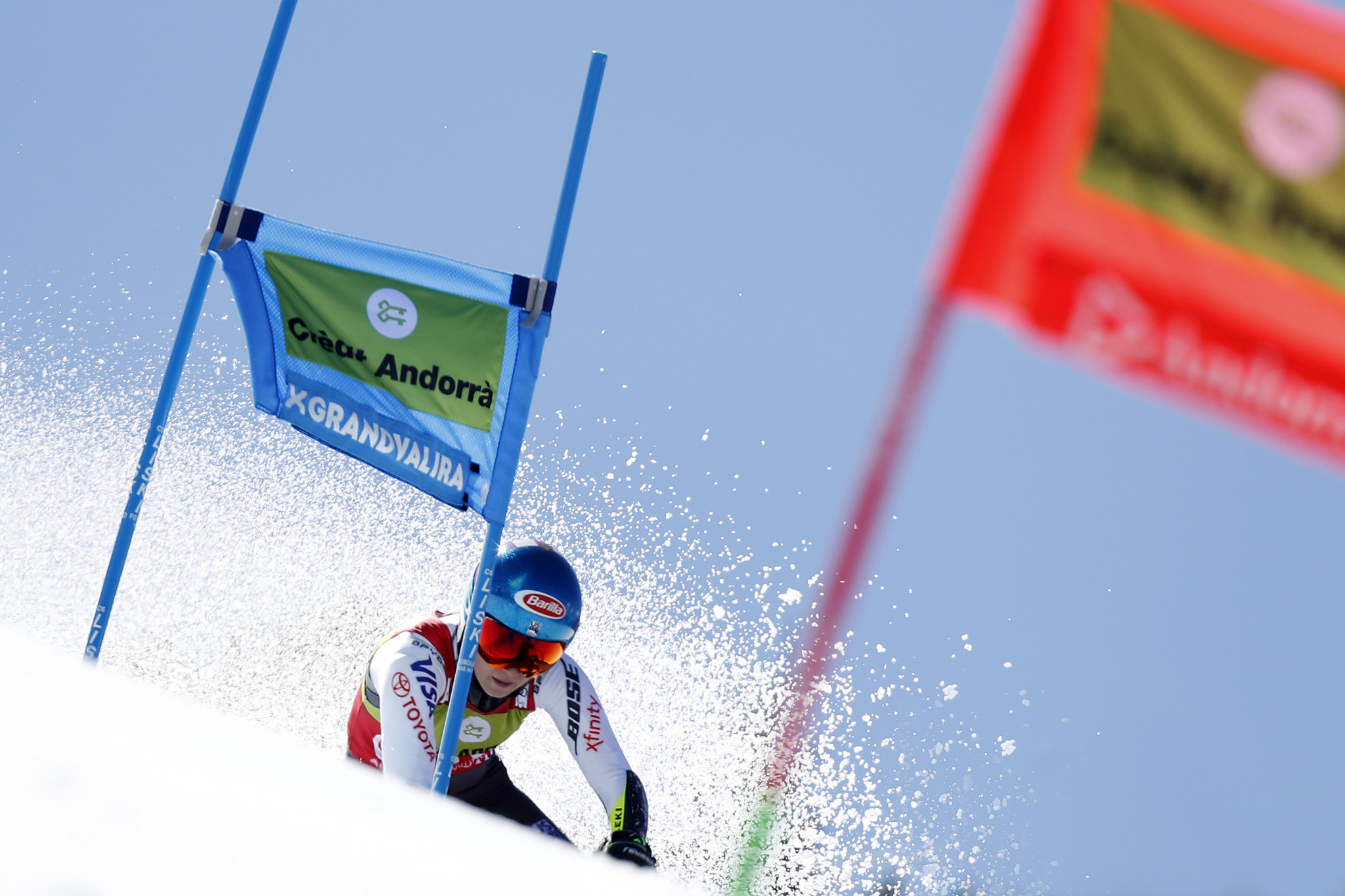 Giant slalom skier Michaela Shiffrin from the United States was one of many top names who competed at the International Ski Federation World Cup event in Aspen Snowmass in 2017 ©Getty Images