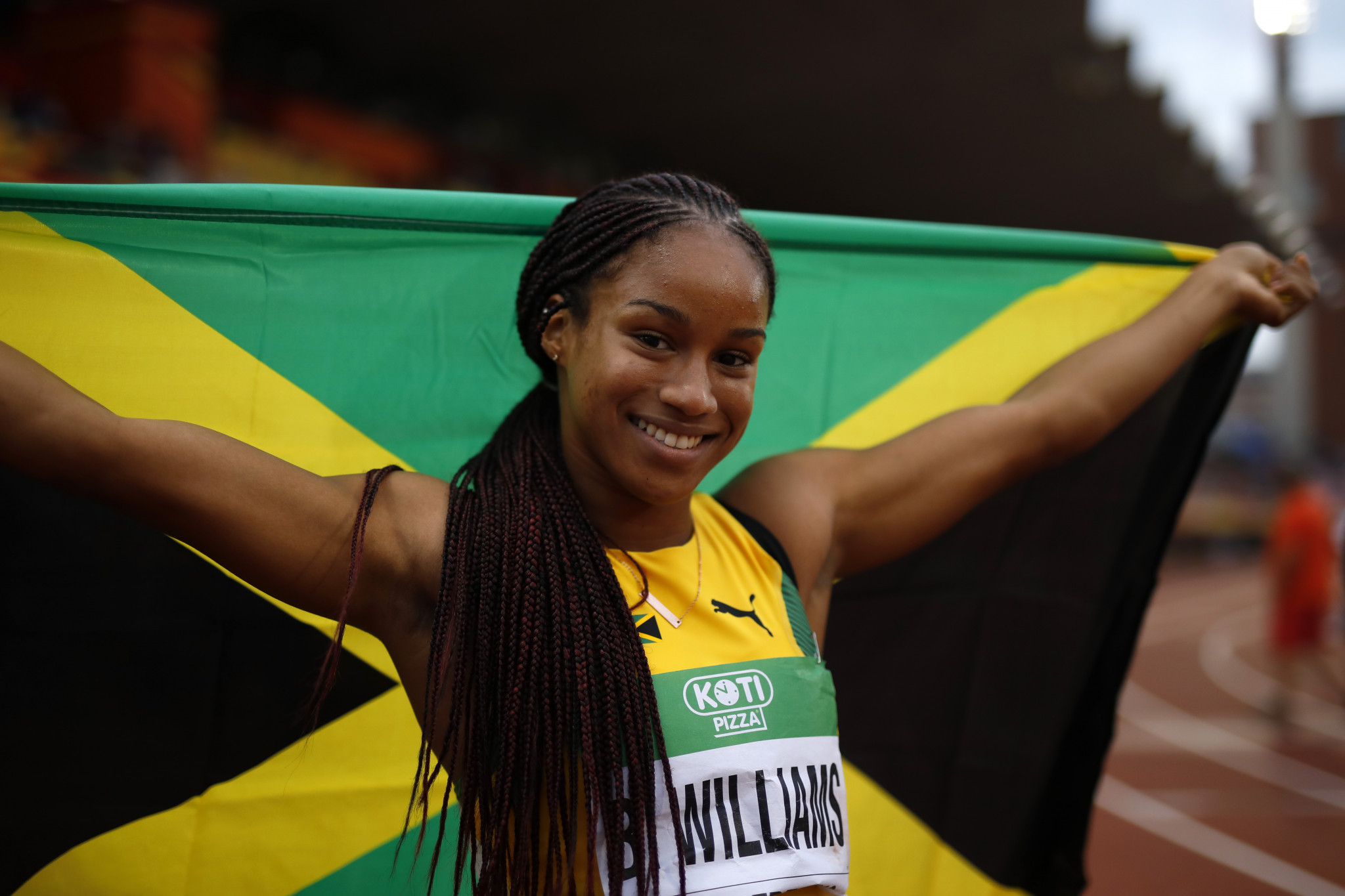 Jamaica's Briana Williams is the current world under-20 champion in the 100 metre and 200m ©Getty Images