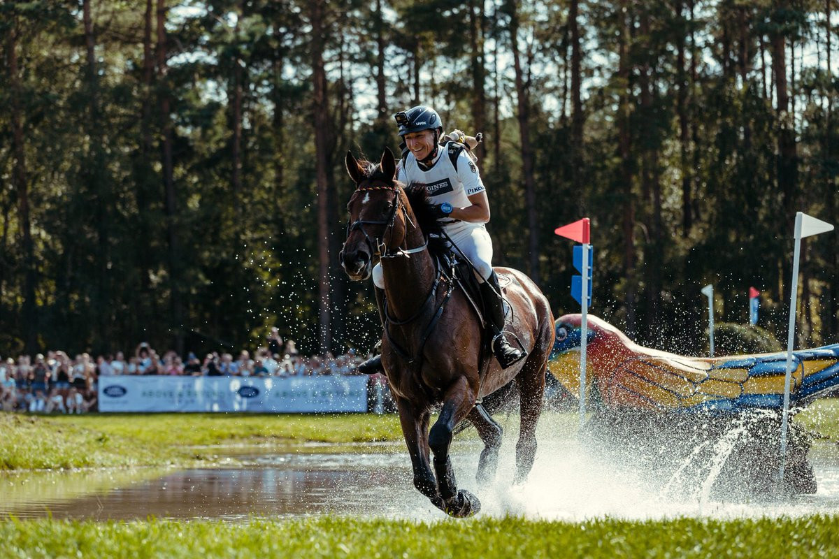 Ingrid Klimke and SAP Hale Bob OLD have become only the second combination to win back-to-back titles at the FEI European Eventing Championships ©FEI/Twitter
