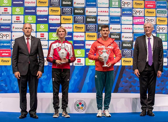 Veteran judokas Filzmoser and Miklós given first IJF Fair Play trophies for promoting sporting values