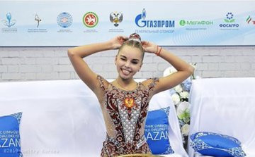 Dina Averina adds three gold medals to all-around title at FIG World Challenge Cup
