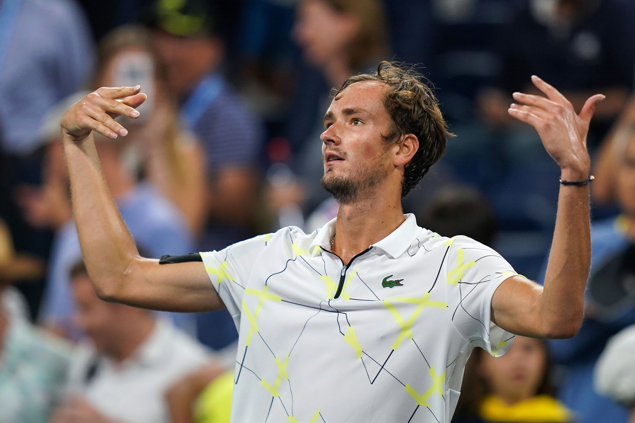 Daniil Medvedev played up to the jeering crowd again at Flushing Meadows ©Getty Images