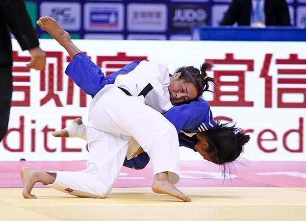 Sumiya Dorjsuren of Mongolia won the women's under 57kg competition