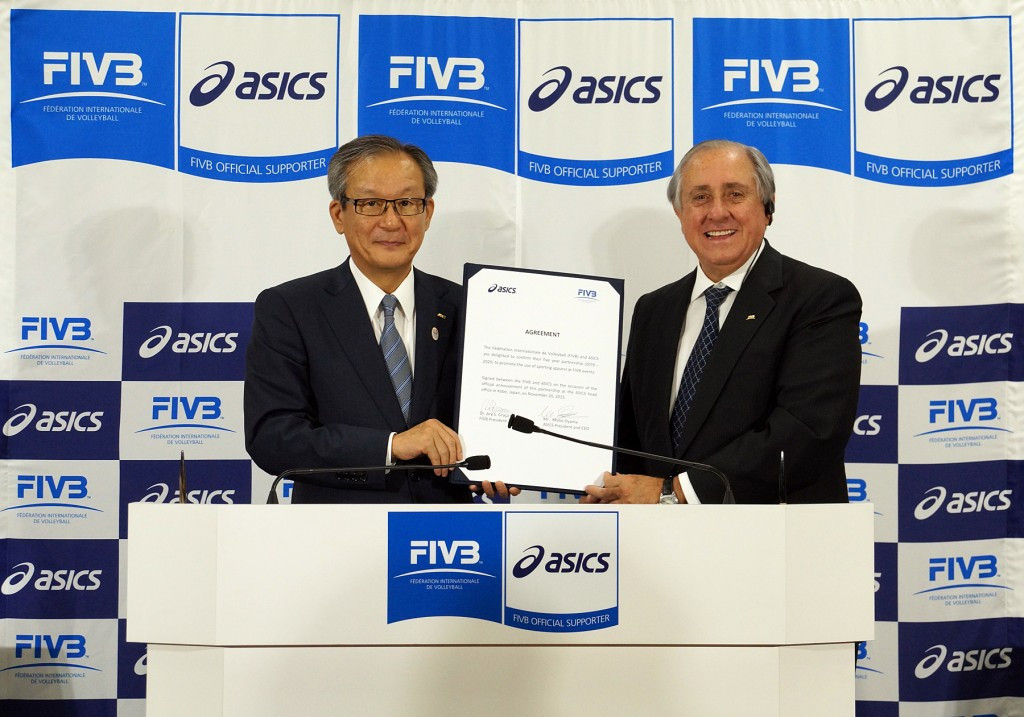 FIVB signs five-year deal with ASICS aimed at continuing modernisation of sport