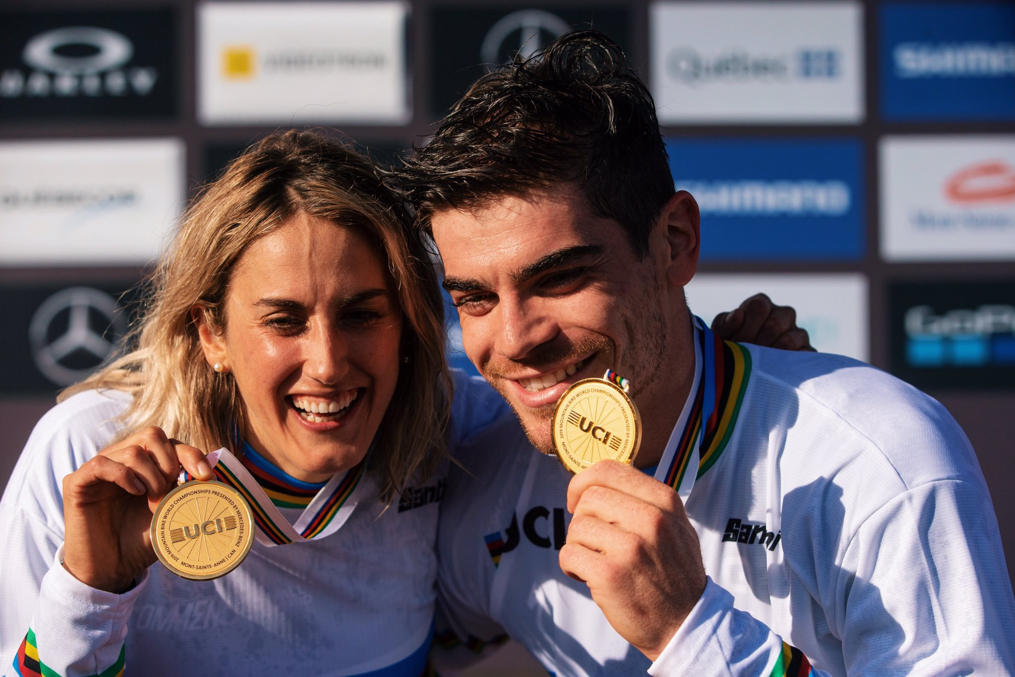 Bruni and Nicole claim French double on final day of UCI Mountain Bike World Championships