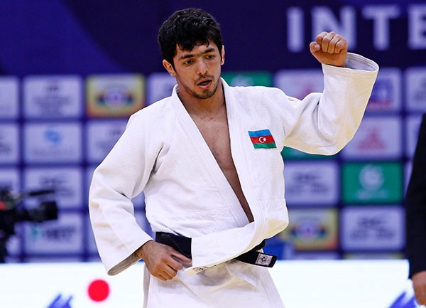 Ilgar Mushkiyev of Azerbaijan was one of two gold medallists from his nation on the opening day in Qingdao
